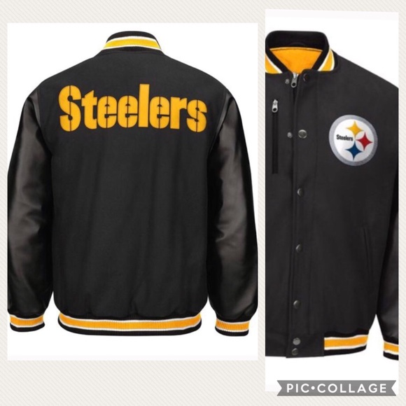 detailed look 3210a 4c62c 🆕 NFL Pittsburgh Steelers Varsity Jacket NWT XL Boutique